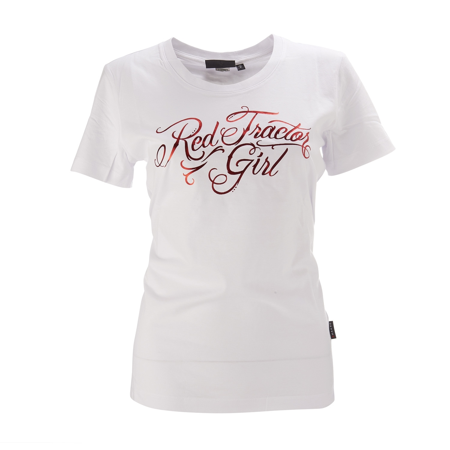T shirt plain white back - Picture Of Women S Red Tractor Girl
