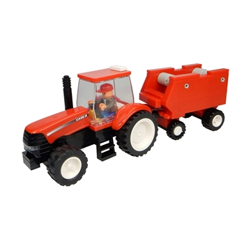 Picture of Tractor + baler, bricks (126 pcs)