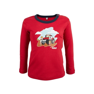 Picture of Baby's long-sleeved T-shirt, red/blue