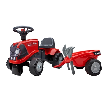 Image de Baby's ride-on tractor with trailer, rake and shovel