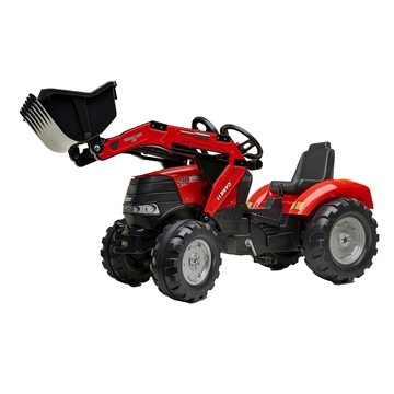 Image de Pedal tractor with front loader and noise-reducing wheels